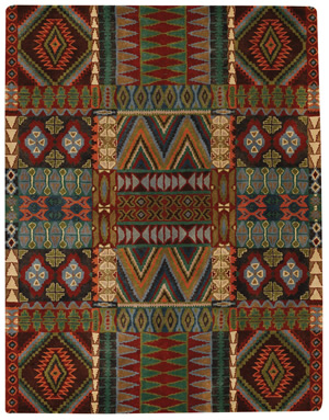 Charming Expertly Hand Tufted Of A Special Blend Of 100% Wools, These Mountain Lodge  Rugs