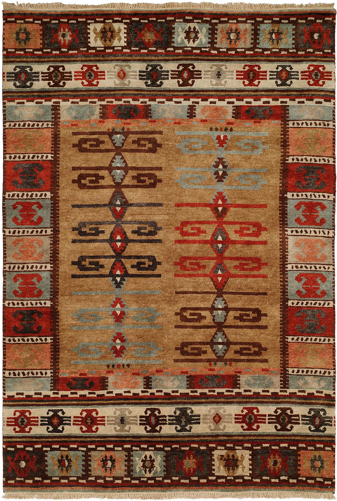 southwest sand wool rectangle path southwestern area rugs rug p in brown