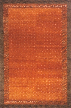 DESERT GABBEH 01 Paprika. Made in the tradition of Gabbehs from the foothills of Iran, our Desert Gabbeh collection is hand-knotted in India of 100% wool, but given a modern twist with its warm color palette and designs.