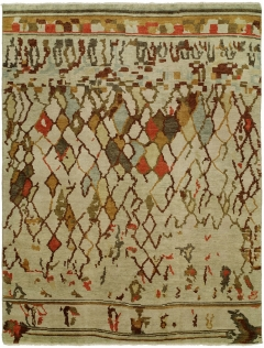 Barcelo 795. The Kalaty Rugs Barcelo collection is unique in that it includes a variety of classic designs and patterns ranging from Moroccan to Damask to Asian influences. The result of a new Turkish-style weave and 100% premium hand-spun wool, each of these elegant hand-knotted rugs is unusually soft and very fashion forward. Available in rectangular sizes between 2' x 3' and 12' x 15', and as runners and we can also do custom sizes so please call us for better service.