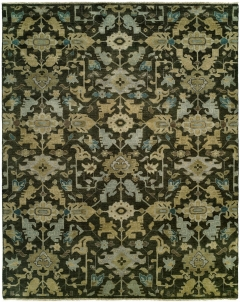 Heris 87. Classic 100% wool hand-knotted rug patterns inspired by the geometry found in traditional Heriz and Serapi rugs. Each of these rugs features a number of fashionable colors and eye-catching motifs. Decidedly traditional yet designed for today! Available in rectangular sizes between 2' x 3' and 12' x 15', and as runners and we can also do custom sizes so please call us for better service.