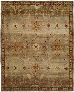 A new twist on a classic style - Murano is a group of Oushak-weave rugs featuring narrow borders and patterns that are transitional interpretations of tribal designs. These rugs are hand-knotted from 100% hand-spun wool with unique background colorations shaded from darker to lighter. Available in rectangular sizes between 2' x 3' and 12' x 15', and as runners and we can also do custom sizes so please call us for better service.