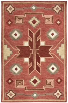 The Mohawk Collection is hand tufted with partly loop hooked pile in 100% wool and available in sizes 5' x 8' to 10' 13.