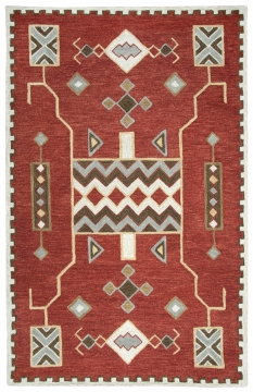 MH271. The Mohawk Collection is hand tufted with partly loop hooked pile in 100% wool