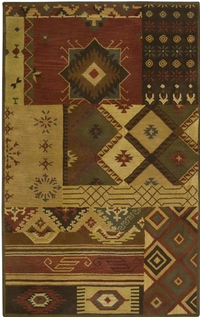 NM2620. The New Mexico Collection is hand tufted with 100% Wool pile. Inspired be the distinctive styling of Native American art and textiles. 13 standard sizes ranging from 2' x 3' – 10' x 13', round – runners and also custom sizes are available. Please call us for better service.