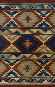 NM3364. The New Mexico Collection is hand tufted with 100% Wool pile. Inspired be the distinctive styling of Native American art and textiles. 13 standard sizes ranging from 2' x 3' – 10' x 13', round – runners and also custom sizes are available. Please call us for better service.
