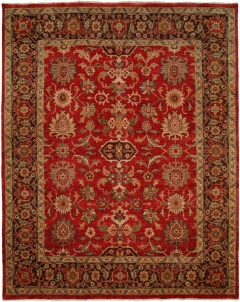 OU-410 - This Oushak Collection is in a special class of their own - richly colored - 100 wool pile hand knotted in a Turkish style that emulates many of the authentic antique designs and characteristics. Available in many sizes between 2' x 3' to 12' x 18', and as runners, rounds and squares + custom sizes. Please call us for better service.
