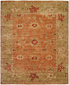 OU-455. This Oushak Collection is in a special class of their own - richly colored - 100% wool pile hand knotted in a Turkish style that emulates many of the authentic antique designs and characteristics. Available in many sizes between 2' x 3' to 12' x 18', and as runners, rounds and squares + custom sizes. Please call us for better service.