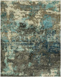 "Equinox 574. Fusing modern color sensibilities together with random transitional ""broken"" motifs, the patterns in this remarkable collection are meticulously hand knotted in a Tibetan knot weave using a combination of wool and SilketteTM. Some of the designs in this impressive rug collection feature the added dimension of hand carving. Available in rectangular sizes between 2' x 3' and 12' x 15', and as runners and we can also do custom sizes so please call us for better service."